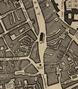 Hicks Hall shown on John Rocque's Map of London, 1746