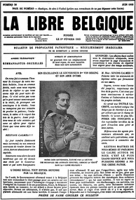 La Libre Belgique, one of the best known underground newspapers of the occupation