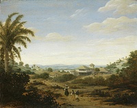 Landscape with sugar mill, Frans Post