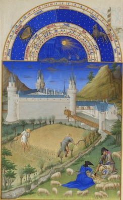 July, from the Très Riches Heures du Duc de Berry