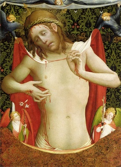 Man of Sorrows by Meister Francke, ca. 1435
