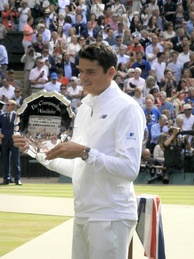 Milos Raonic was a finalist at Wimbledon in 2016. This was his first appearance in a Grand Slam final.