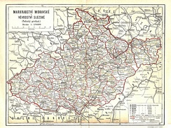 Moravian and Austrian Silesian districts, 1897