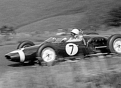 Stirling Moss's Lotus 18 at the Nürburgring during 1961