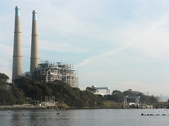Moss Landing Power Plant, the state's largest power production source (presently shut down)