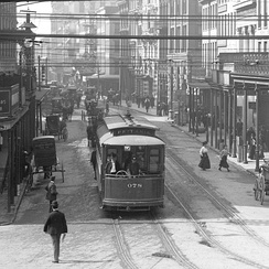 New Orleans streetcars, early 1900's.