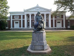 Old Cabell Hall and Homer, University of Virginia