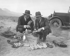 Dynamite found during sabotage incidents of Owens Valley Aqueduct, circa 1924