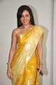 Pakhi Hegde in a string-sleeve choli and gold-plated saree