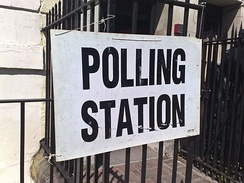 Polling station in Camberwell