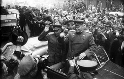 Ivan Konev at the liberation of Prague by the Red Army in May 1945