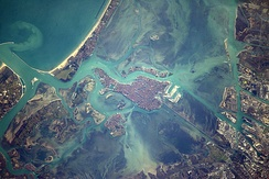 Venice viewed from the International Space Station