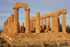 The Temple of Hera at Agrigento, Magna Graecia.