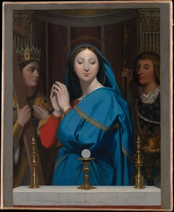 Virgin Mary by the Host by Jean Auguste Dominique Ingres