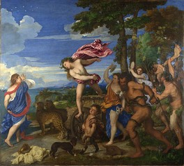 Bacchus and Ariadne by Titian, at the National Gallery in London.