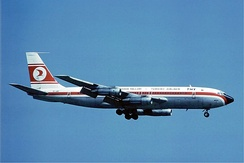 Turkish Airlines 707-121B in 1976