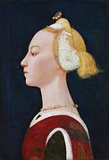 Paolo Uccello, Portrait of a Lady, c. 1450, Florence