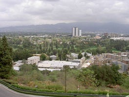 View across Universal City, with Burbank studio district in background