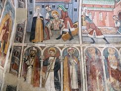 French late Gothic frescos.