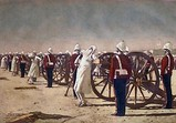 Blowing from Guns in British India, 1884