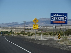 Pahrump, Nevada, welcome sign