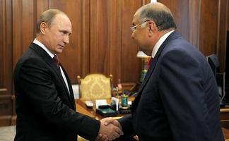 С Владимиром Путиным, 2015 год