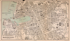 Map of Marseille, 1896