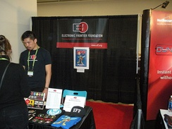 EFF booth at the 2010 RSA Conference
