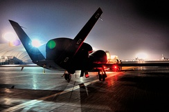 RQ-4 Global Hawk from Beale AFB, California attached to the 12th Expeditionary Reconnaissance Squadron