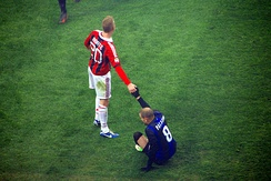 Palacio with Ignazio Abate in the Milan derby
