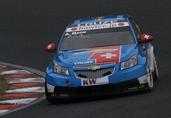 Menu driving for Chevrolet at the 2010 FIA WTCC Race of Japan.