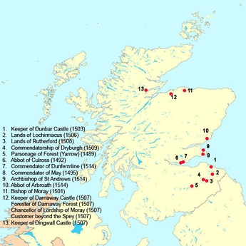 Scottish benefices held by Forman