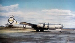 Martin-Omaha B-29-40-MO Superfortress AAF Serial No. 44-27353 The Great Artiste assigned to Crew C-15, 393rd Bombardment Squadron of the 509th Bomb Group. This aircraft was converted to Silverplate Victor number 89. This aircraft flew on both Atomic Bomb missions (6 August, 9 August 1945) as an instrument aircraft monitoring the nuclear explosions.