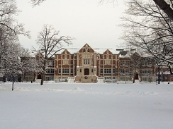 Ball State University after a January snow in 2014