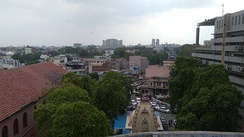 Birds eye view Ahmedabad old city