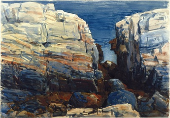 Frederick Childe Hassam, The Gorge, Appledore, Brooklyn Museum