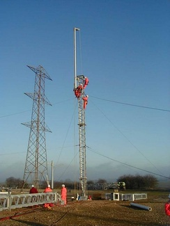 National Grid plc has its main Ofsted-checked Eakring Training Centre in Nottinghamshire, where trainees learn how to build electricity pylons, including the new T pylon; National Grid has other training sites in Hollinwood and Hitchin