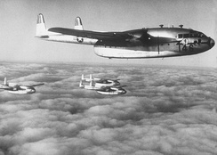 C-119 Flying Boxcars from the 403rd Troop Carrier Wing.