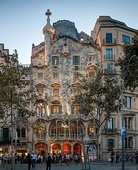 The Casa Batlló by Antoni Gaudí in Barcelona (Spain), an iconic Art Nouveau masterpiece