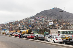 Pueblos jóvenes on the outskirts of Lima in 2015. Many of them are today consolidated.