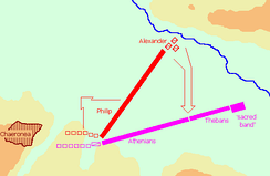 The battle of Chaeronea took place in the autumn of 338 BC and resulted in a significant victory for Philip, who established Macedon's supremacy over the Greek cities.