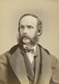 Frederic Edwin Church, c.1868, albumen print (cabinet card) by Napoleon Sarony (detail), National Gallery of Art, Washington, DC, Department of Image Collections.