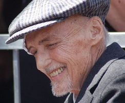 Hopper at a ceremony to receive a star on the Hollywood Walk of Fame on March 26, 2010, two months before his death.