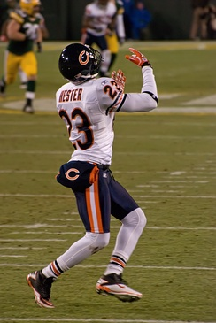 Hester receiving a punt, December 25, 2011.