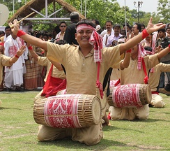 Festive Bihu with Dhuliya is an Assamese Hindu tradition on this day.