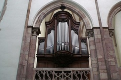 The Choir Organ at St Thomas' Church, Strasbourg, designed in 1905 on principles defined by Albert Schweitzer