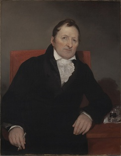 Eli Whitney (1765–1825) is best known for inventing the cotton gin in October 1793 and patenting it on March 14, 1794;[1] a key invention of the Industrial Revolution that shaped the economy of the antebellum South.[2]