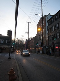 Main Street and Maryland Avenue in the Ellicott City Historic District