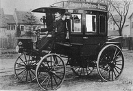 First motor bus in history: the Benz Omnibus, built in 1895 for the Netphener bus company