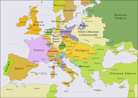 Europe in the years after the Treaty of Aix-la-Chapelle in 1748